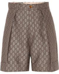 Gucci - Short en jacquard de coton et laine GG - Lyst