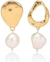 Alighieri - The Infernal Storm 24kt Gold-plated And Pearl Earrings - Lyst
