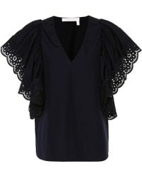 See By Chloé - Cotton Top - Lyst
