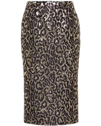 Rochas - Oncidium Brocade High-waisted Skirt - Lyst