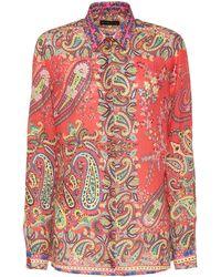 Etro - Printed Ramie Shirt - Lyst