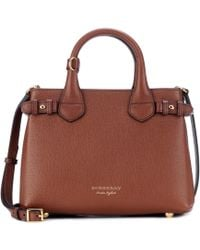 Burberry - The Baby Banner Leather Shoulder Bag - Lyst
