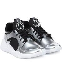 McQ - Gishiki Metallic Leather Trainers - Lyst