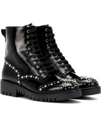 McQ - Bess Studded Leather Ankle Boots - Lyst
