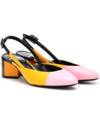 Pierre Hardy - Cut Leather Slingback Court Shoes - Lyst
