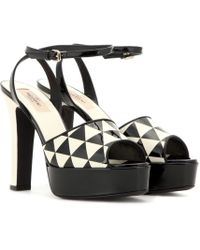 Valentino - Shiny Fever Patent Leather Sandals - Lyst