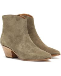 Isabel Marant - Dacken Suede Ankle Boots - Lyst