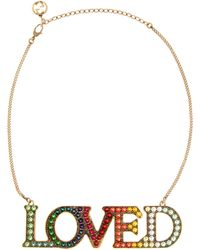 Gucci - Loved Embellished Necklace - Lyst