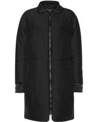 Ferragamo - Textured Wool And Silk Coat - Lyst