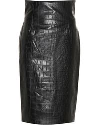 Nanushka - Ania Faux Leather Pencil Skirt - Lyst