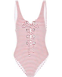 Mara Hoffman - Terry Lace-up Maillot - Lyst