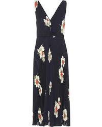Vince - Gardenia Floral Pleated Dress - Lyst