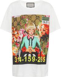 Gucci - T-shirt en coton imprimé - Lyst