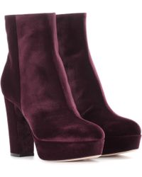 Gianvito Rossi - Exclusive To Mytheresa. Com – Temple Velvet Platform Boots - Lyst