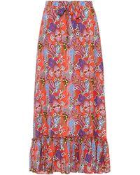 Etro - Printed Cotton Maxi Skirt - Lyst