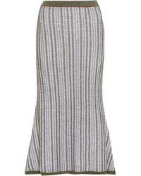 c4551b42f9 Victoria Beckham Corduroy Skirt in Natural - Lyst