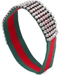 Gucci - Cinta adornada con cristales - Lyst