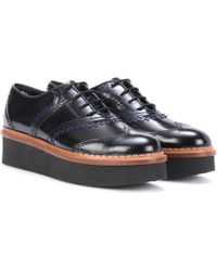 Tod's - Platform Leather Oxford Shoes - Lyst