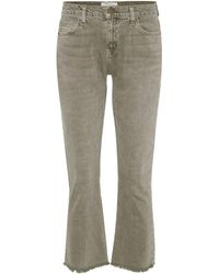 Current/Elliott - The Kick Mid-Rise Cropped Jeans - Lyst