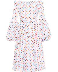 Caroline Blend Cotton Dress Gisele Lyst Constas OBdOaq