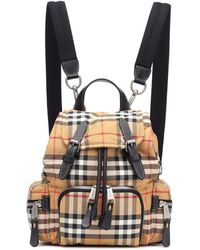Burberry - The Rucksack Small Backpack In Antique Yellow Nylon - Lyst