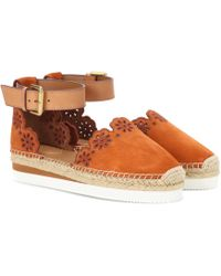 See By Chloé - Suede And Leather Espadrilles - Lyst
