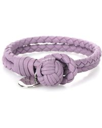 Bottega Veneta - Knot Intrecciato Leather Bracelet - Lyst