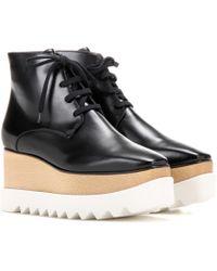 Stella McCartney - Platform Faux-Leather Ankle Boots - Lyst