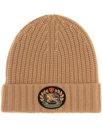 Burberry - Crest Wool And Cashmere Beanie - Lyst