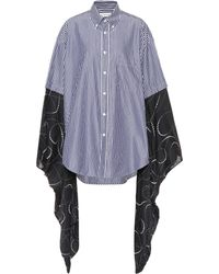 Balenciaga - Kimono-sleeve Cotton Shirt - Lyst