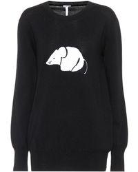Loewe - Intarsia Wool Sweater - Lyst