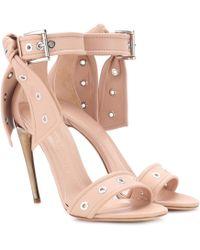Alexander McQueen - Studded Leather Sandals - Lyst