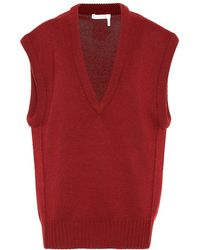 Chloé - Gilet in cashmere - Lyst