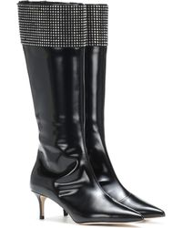 Christopher Kane - Embellished Leather Knee-high Boots - Lyst