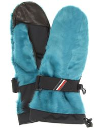 Moncler Grenoble - Shearling Leather Gloves - Lyst