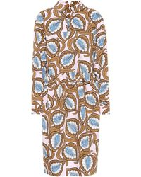 Marni - Printed Cotton Shirt Dress - Lyst