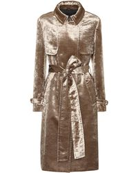 Brunello Cucinelli - Velvet Trench Coat - Lyst