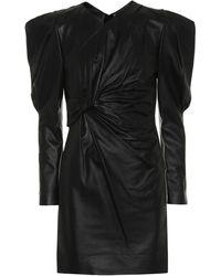 2896d1b6eab Isabel Marant - Cobe Leather Minidress - Lyst