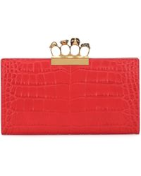 Alexander McQueen - Embellished Leather Clutch - Lyst