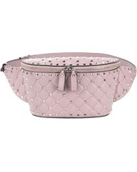 Valentino - Rockstud Spike Leather Belt Bag - Lyst