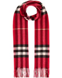 Burberry - Giant Icon Cashmere Scarf - Lyst
