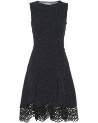 Oscar de la Renta - Guipure Lace-trimmed Tweed Dress - Lyst