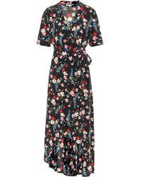 Equipment - Floral Silk Wrap Dress - Lyst