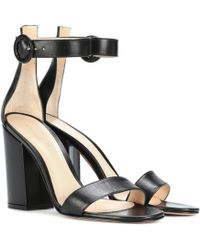 Gianvito Rossi - Versilia Leather Sandals - Lyst