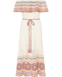 Anna Kosturova - Exclusive To Mytheresa.com – Marianne Cotton Midi Dress - Lyst