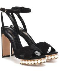 Nicholas Kirkwood - Casati Faux Pearl-embellished Sandals - Lyst