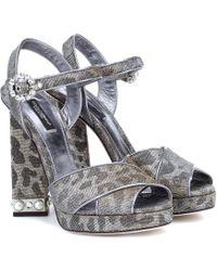 Dolce & Gabbana - Leopard-print Platform Sandals - Lyst