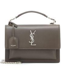 b7c13cf3dd17 Lyst - Saint Laurent Université Medium Leather Cross-body Bag in Natural