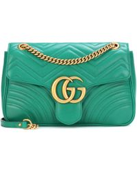 Gucci - Gg Marmont Medium Leather Shoulder Bag - Lyst