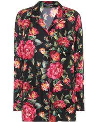 Dolce & Gabbana | Silk Pyjama Top | Lyst